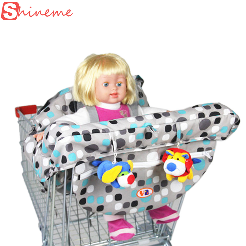 Brand 2 colors five-point harness quality safety folding supermarket infant child shopping cart cover for baby(China (Mainland))