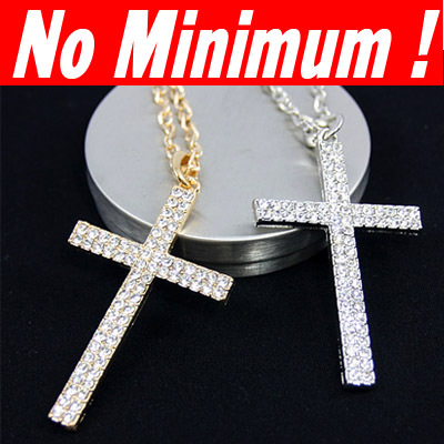 Silver big Cross necklaces & pendants long Pendant Necklaces hip hop jewelry for women man accessories vintagesale nke-g80(China (Mainland))