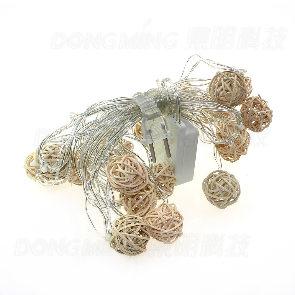 Novelty big size 20 ball 5M LED String lights white wire LED Starry Lights Christmas Wedding ...