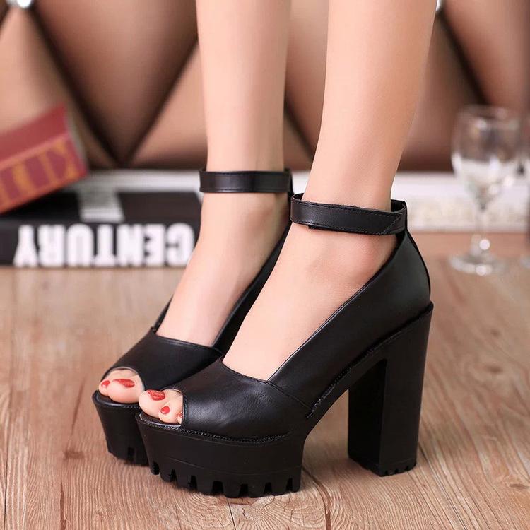 platform shoes High heels women shoes zapatos mujer lolita shoes women pumps 2015 fashion ladies shoes chaussure femme 4.5-8