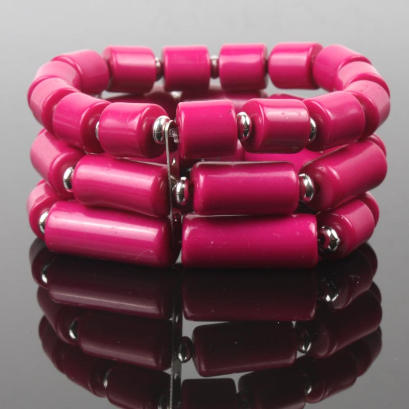 bead stretch bracelets elastic strand bracelet new fashion women jewelry acrylic crystal bohemian pulseira mujer bijoux BR011(China (Mainland))
