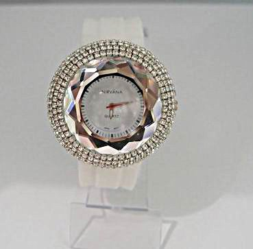 Bling Bling Watch White Silicone Sparkling Crystal Women Wrist Watch  w01682-1<br><br>Aliexpress