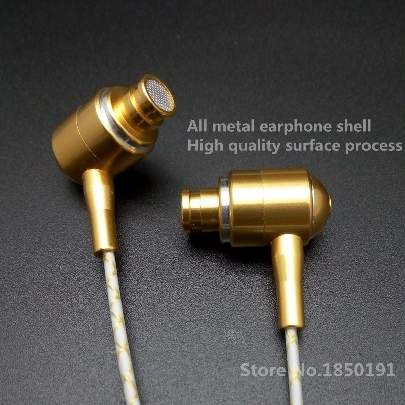 RY01 enthusiast bass ear earphones All metal manufacturing 10MM shocking sound quality HIFI 5N crystal copper wires earphone