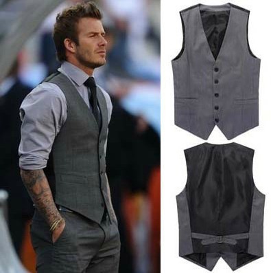 Free shipping Elegant Spring Mens Vest Fashion Casual Business Men Slim Button Vest Coat WaistCoat(China (Mainland))