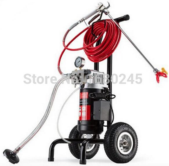 Airless Spray Gun Electric Paint Sprayer Electric M819-A Machine with 50cm extend pole 517/519Nozzle Tips painting equipment(China (Mainland))