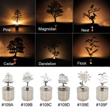 sexy product shadow projection lamp with various type pine/Magnolia/bird's nest/ cedar/dandelion/ bird flock free shipping(China (Mainland))