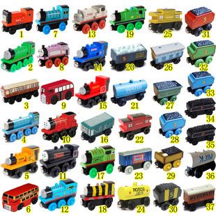 Thomas Train Car wooden Complete set of car toy train toys for the children(China (Mainland))