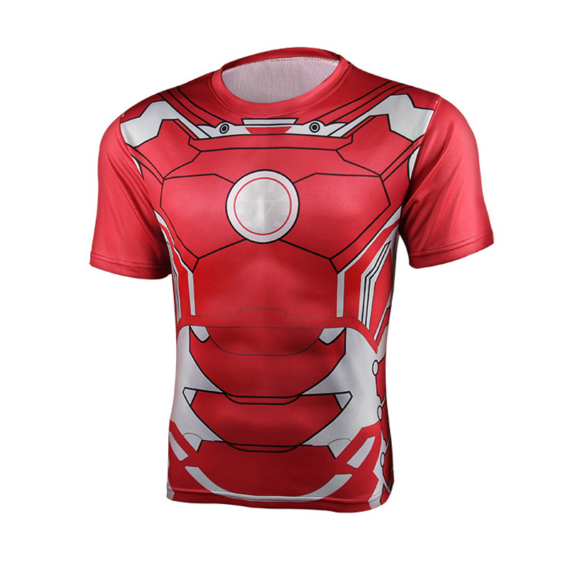 Super Heroes Avenger Batman sport T shirt Men Compression Armour Base Layer short sleeves Thermal Under Top Fitness T shirt 4 XL(China (Mainland))