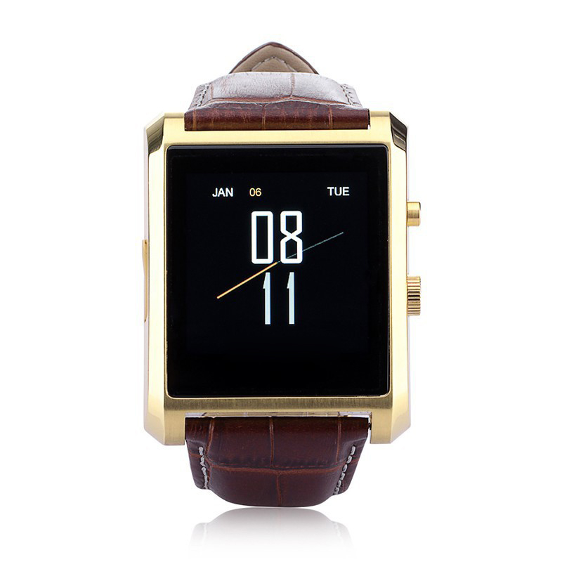DM08 Smart Watch Android Crystal Curved IPS MTK2502 HRM Bluetooth Leather Strap PK DZ09 U80 GT08 A9 U8 Reloj Inteligente<br>