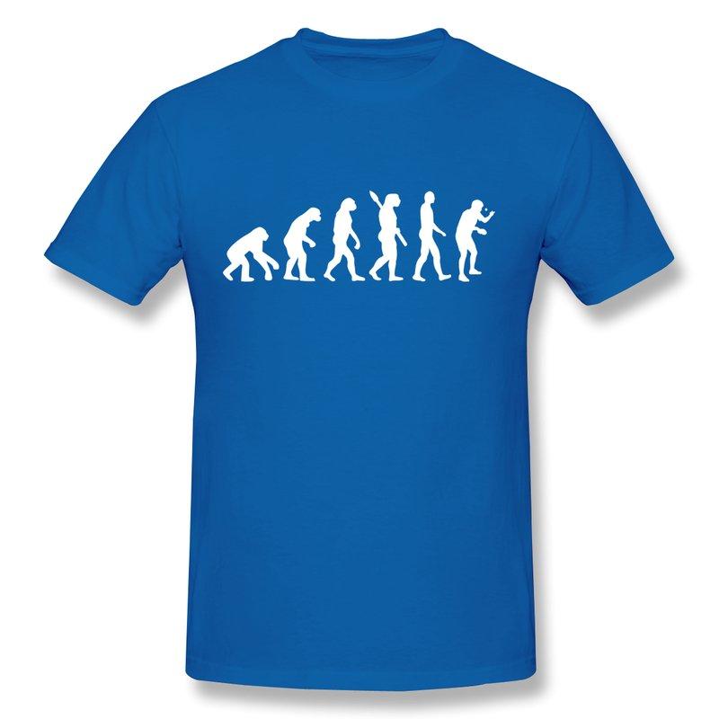 Design Short Sleeve Teeshirt Men's Evolution table tennis Cool Familly Men T Shirts Short-Sleeve(China (Mainland))