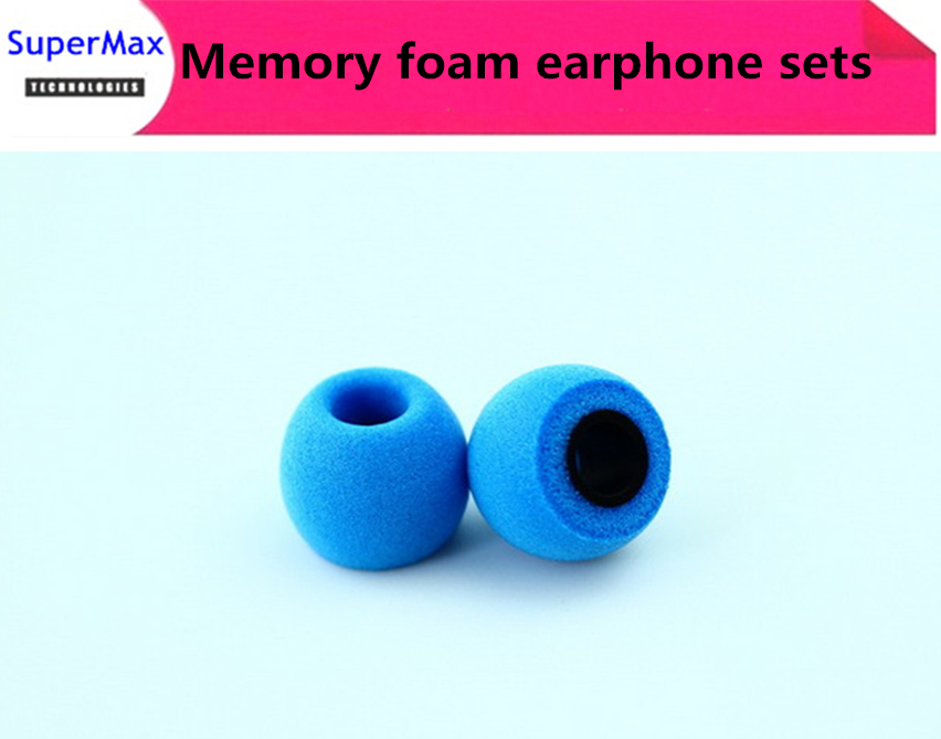 Free shipping 50Pairs Comply Ts-400 isolation headphones Tips memory foam sponge earphone sets comfort Earphone Tips Blue(China (Mainland))
