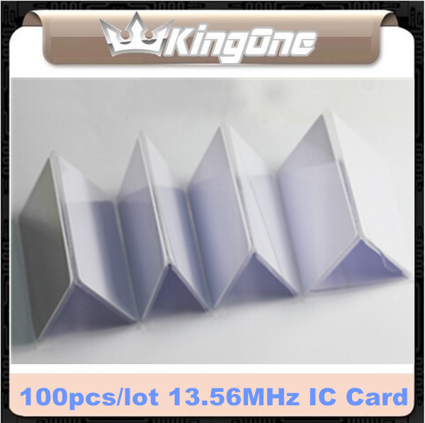100pcs/lot ! RFID Proximity Control Entry Access 13.56MHz S50 0.8mm Thin PVC IC Card For Access Control System(China (Mainland))