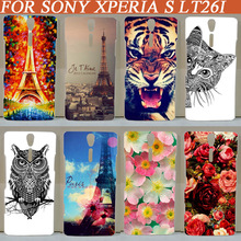 Buy painting colored tiger lion rose butterfly flowers Eiffel Tower design Hard Plastic Skin Cover Case Sony Xperia S LT26i for $1.50 in AliExpress store