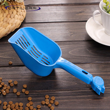 2016 Plastic Pet High Quality Food Shovel Cat Litter Shovel Grid-style Litter Tray Dog Food Scoop Scooper Pet Cleaning Supplies(China (Mainland))