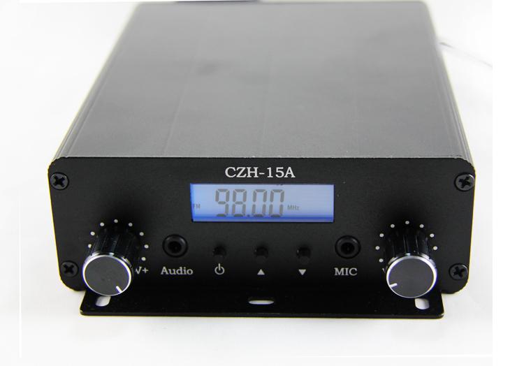 Original new CZE-15A 15W stereo PLL FM transmitter broadcast radio station(China (Mainland))