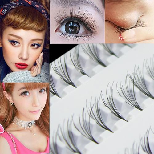 Black 8mm 10mm 12mm 60 Individual False Eyelash Cluster Eye Lashes Extension Tray Make