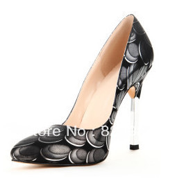 Sexy Spike Heel Synthetic Material Pointy Toe Shoes(China (Mainland))