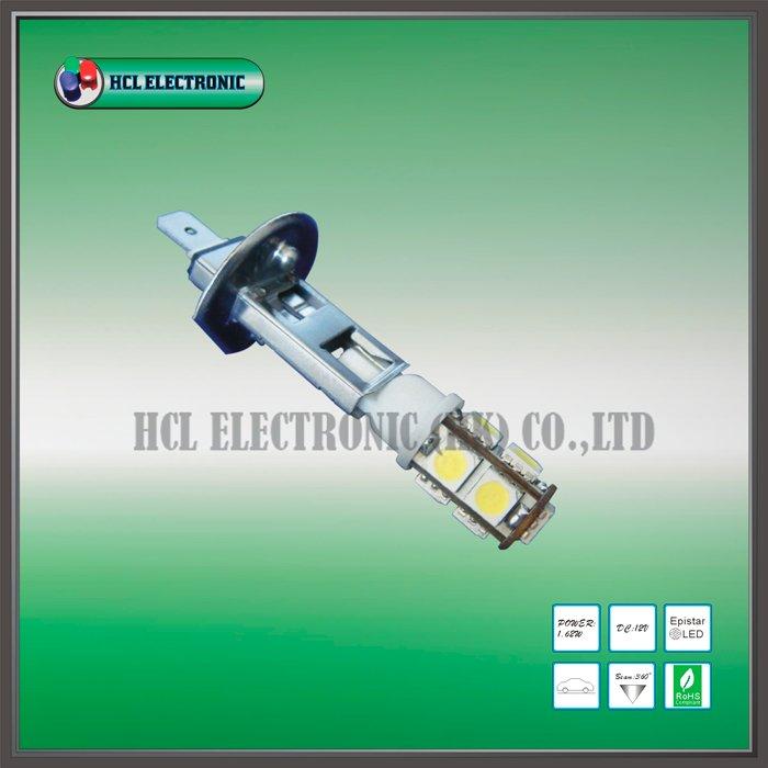 Free shipping 2 pcs lot H1 LED Fog light bulb 9pcs Ultra Bright 5050SMD white red