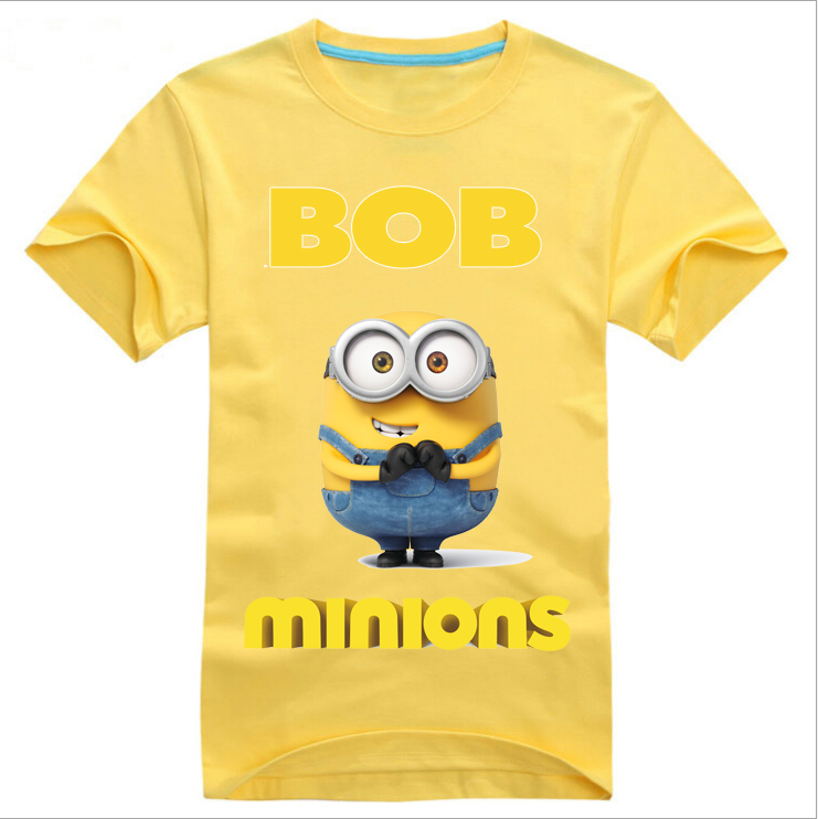 2016 fashion summer minions cotton men minions t shirts. Black Bedroom Furniture Sets. Home Design Ideas