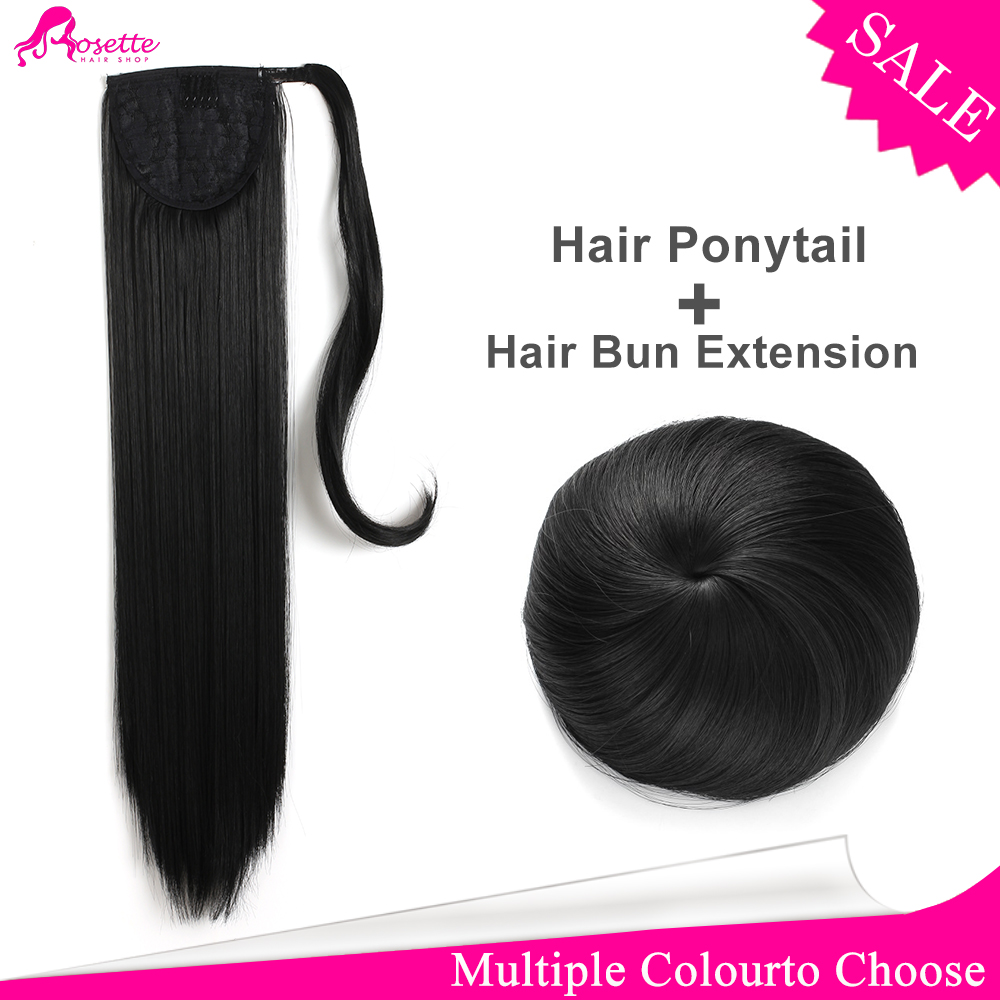 26Inch 12Colors Synthetic Hair Ponytails Extension Straight Long Clip-in Ribbon False Hair Ponytail Hairpieces+Hair Bug<br><br>Aliexpress