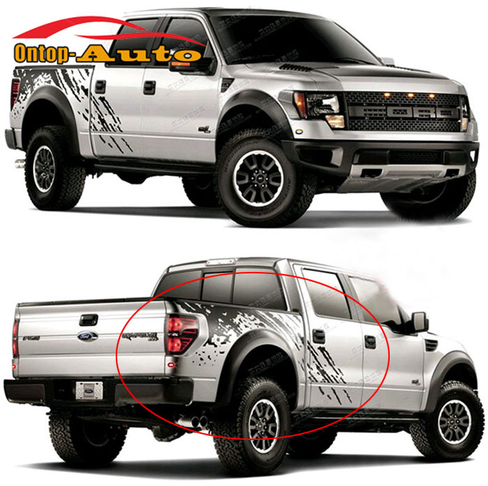 Auto Body Tail Trunk Side Graphics Vinyl St Decals SVT Sticker For Ford F150 Raptor 2009-2014(China (Mainland))