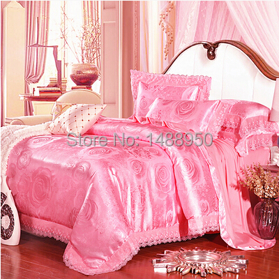 MFH Mordern Luxury bedding sets designer bed linen Lace duvet covers Christmas Embroidery bedclothes cotton sheets king size.(China (Mainland))