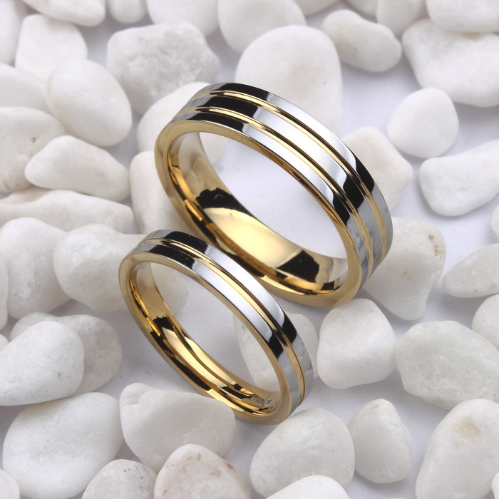 Free Shipping Size 4 12 5 18K White Gold Plated Tungsten Wedding Bands Ring Couple Ring