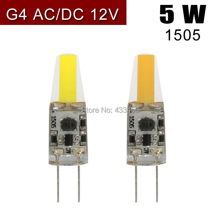 Free shipping High quality 1pcs AC/DC 12V G4 LED 5W NEW COB Corn Light SMD bulb Super bright Replace Halogen Lamp Led Light(China (Mainland))