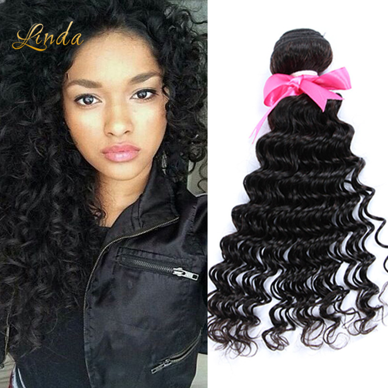 Queen Hair Products Malaysian Deep Wave 3Bundles/Lot Unprocessed Malaysian Deep Curly Virgin Hair 100% Human Hair Weave 100g/Pcs