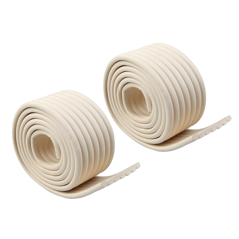 SCYL WHOLESALE 2Pcs 2M Baby Table Corner Edges protect Collision Glass Protector Cushion (White)(China (Mainland))