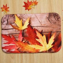 Free Shipping Wholesale Customized Maple Leaf Pattern Rectangular Carpet Home Decor Living Room Coffee Table Foot Mats(China (Mainland))