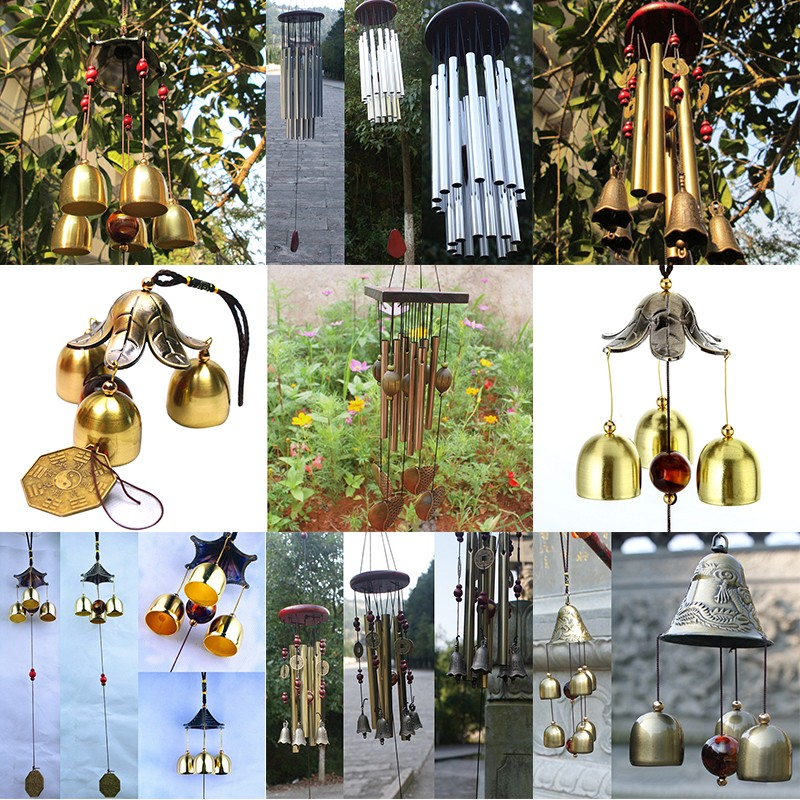 Garden Decor Wind Chime Bell Antirust Copper Lovely Outdoor Living Decorations