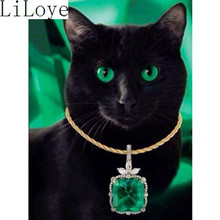Buy Li Loye Diamond Mosaic Full 5D Diamond Embroidery Cat DIY Diamond Painting Cross Stitch Kits Needlework Round Drill black JK565 for $7.54 in AliExpress store