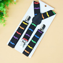 Elastic Print Colorful Kid Suspenders Children Boy Clothing Accessories Suspenders Fashion 2015(China (Mainland))
