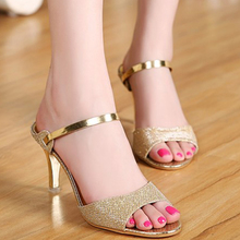 New Arrival Hot-selling Summer Peep Toe Sweet Fashion Women's Sandals Thin Heel Pumps Princess High-heels Women Shoes LS106