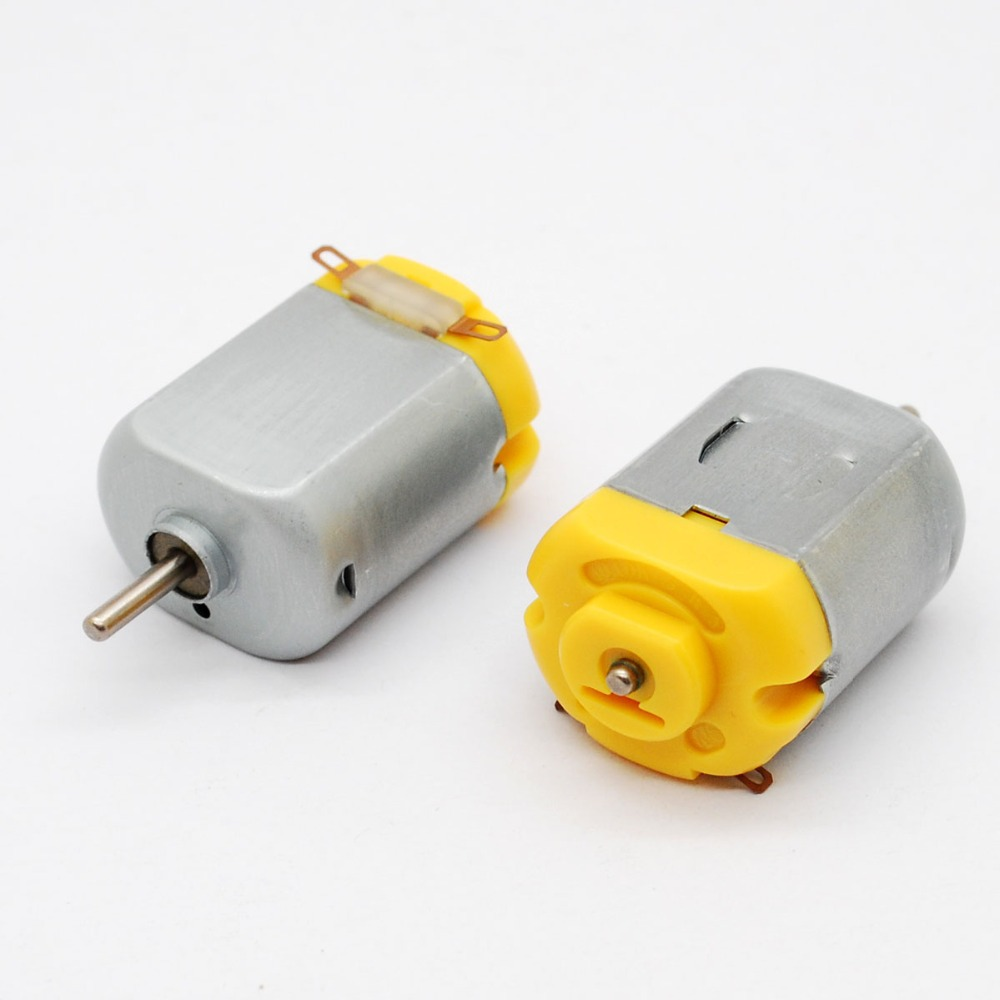 Free shipping!! new 5pcs DC Motor Standard 130 motor with varistor for toy 6 V 0.11 A toy motor(China (Mainland))