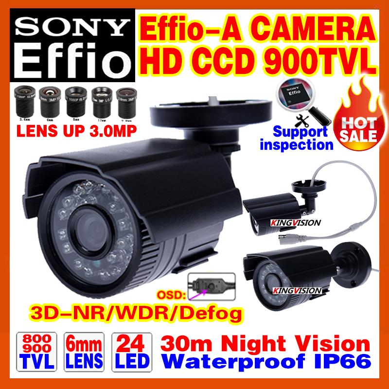 "Discount 1/3""Sony CCD 800/900TVL Effio-A Mini Hd Surveillance Cctv Camera OSD Waterproof IP66 24led IR Night Vision 30m Bracket(China (Mainland))"