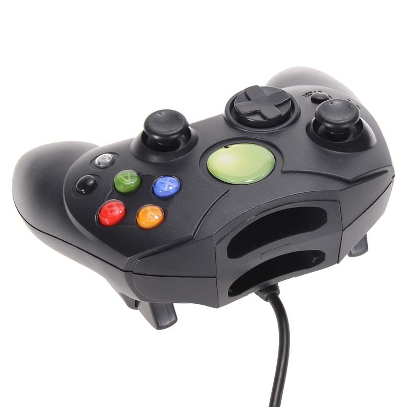 image for High Quality Lot 2 Black Wired Game Pad Game Controller For Microsoft