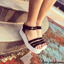 The new product in the summer 2015 buckles platform sandals women
