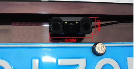 car parktronic system Video Parking Monitor system 2 sensor park w 1 LED Night Vision Reversing CCD Car Rear View Camera back(China (Mainland))