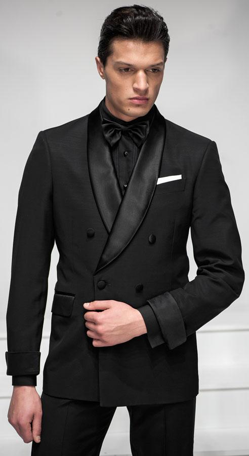 custom made classic black tuxedo casual slim fits mens suits wedding suits business suitsjacket - Smoking Hugo Boss Mariage