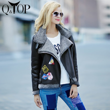 2015 New Leather Jacket Women Cashmere Liner Coat Fur Leather Tassel Winter Parka Appliques Fashion High Quality Free Shipping(China (Mainland))