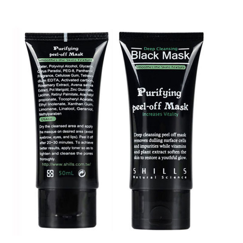 1Pcs Sucktion black mask Blackhead acne contract pores dumb rough face skin Wholesale(China (Mainland))