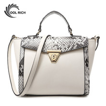 New 2016 Women Bag Fashion Brand Handbags sac Femme Snake Leather Summer Style Messenger Shoulder Bags Small Ladies Pequena