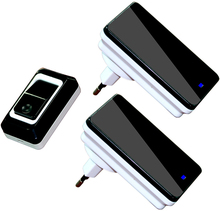 Plug-in Wireless Door Bell Waterproof US Plug Push Button 36 Chimes 1 Ourdoor Transmitter + 2 Indoor Receiver(China (Mainland))
