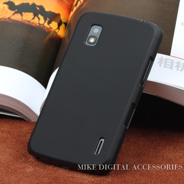 New HighQuality Multi Colors Luxury Rubberized Matte Hard Phone Case Cover For LG Google Nexus 4 E960 Free Shipping(China (Mainland))