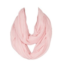 2016 New Women Infinity Scarf Design With 13 Colors Solid Voile Polyester Winter Warm Lady Ring Loop Scarf Size 180*70cm(China (Mainland))