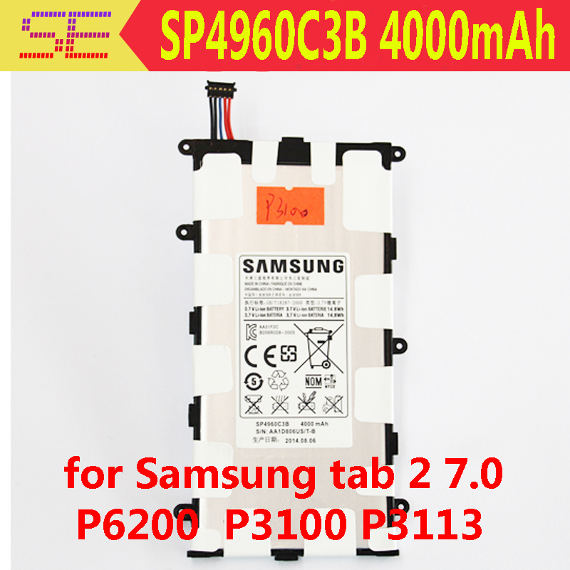 Планшетная батарея SP4960C3B 4000mAh Samsung Galaxy Tab 2 7.0 P3100 P6200 P3110 Galaxy Tab 7.0 Plus a 7inch lcd screen hv070wsa 100 1940 hv070wsa 100 hv070wsa for p1000 p6200 p3100 p3110 tablet pc