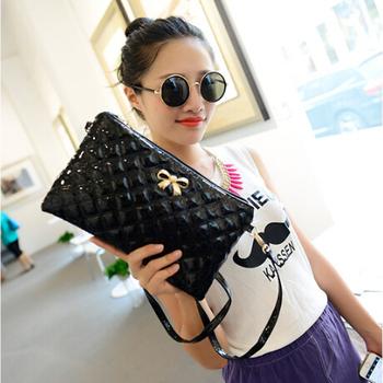 New 2016 women messenger bag handbag clutch shoulders to women bow high quality fashion leather bags Women's Totes Drop shipping