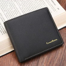 Buy 2017 Short Men Wallet Leather Coin Credit Card Photo Holder Vintage Thin Billfold Purse Business Clutch Coin Purse Male Fashion for $2.90 in AliExpress store
